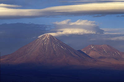 The Volcano Llicancabur. Republic Of Bolivia. Print by Eric Bauer