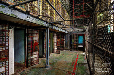 The West Virginia State Penitentiary Cells Print by Dan Friend