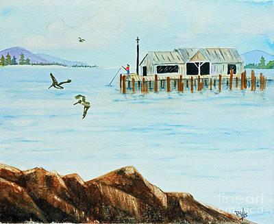 Pylon Painting - The Wharf by Terri Mills
