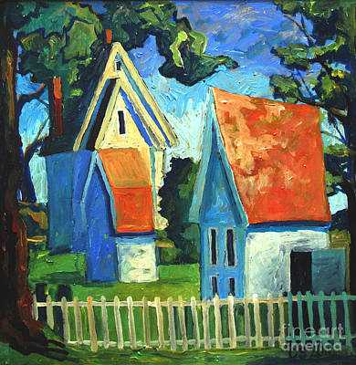 Free Form Painting - The White Picket Fence by Charlie Spear