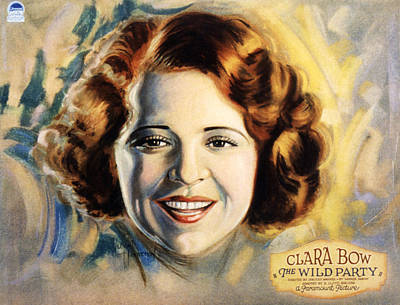 Posth Photograph - The Wild Party, Clara Bow, 1929 by Everett
