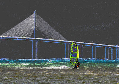 The Wind Surfer Print by David Lee Thompson