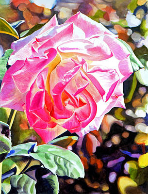 Pink Painting - The Windsor Rose by David Lloyd Glover