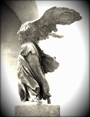 Home Decoration Photograph - The Winged Victory - Paris Louvre by Marianna Mills