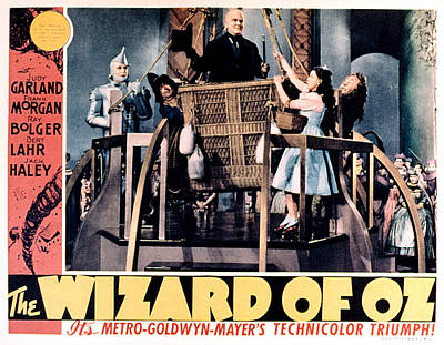 The Wizard Of Oz, Jack Haley, Ray Print by Everett