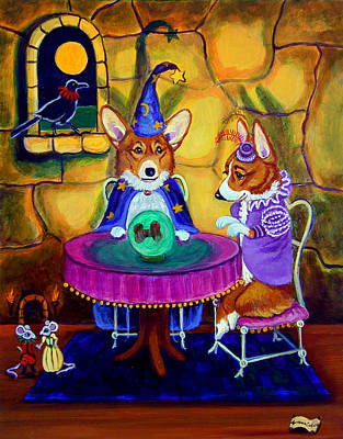 Wizard Painting - The Wizard Of Pembroke - Welsh Corgi by Lyn Cook