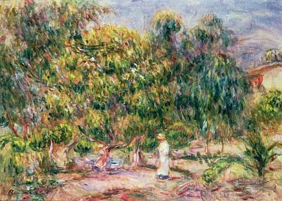 Colette Painting - The Woman In White In The Garden Of Les Colettes by Pierre Auguste Renoir
