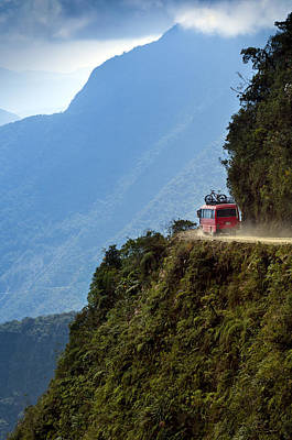 The World's Most Dangerous Road, Bolivia Print by John Coletti