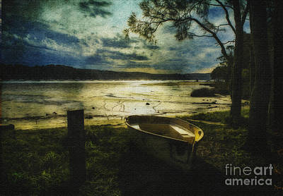 The Yellow Boat Print by Avalon Fine Art Photography