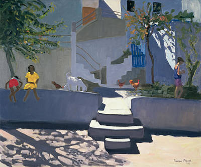 Staircase Painting - The Yellow Dress by Andrew Macara