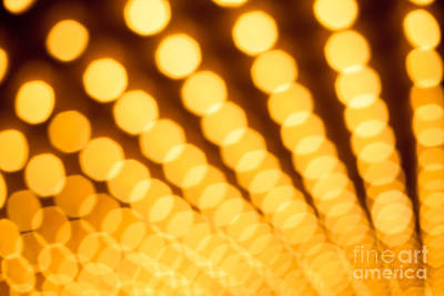 Theater Lights In Rows Defocused Print by Paul Velgos