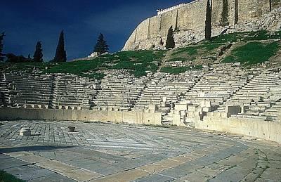 Theatre Dionysos Print by Andonis Katanos
