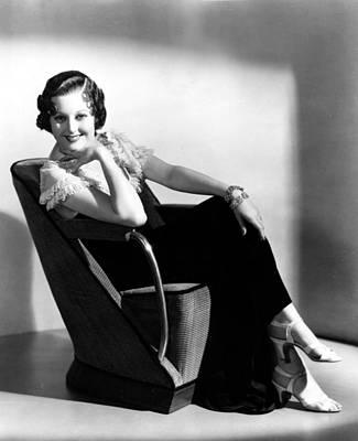 Thelma Photograph - Thelma Todd, Portrait Ca. 1930s by Everett