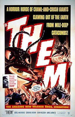 Them 1954, Poster Art Print by Everett
