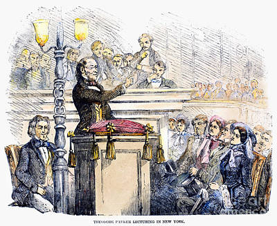 Sermon Photograph - Theodore Parker (1810-1860) by Granger