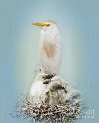 Egret Photograph - They Have My Nose by Betty LaRue