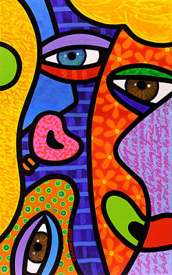 Abstract Faces Painting - Third Eye Rising by Steven Scott