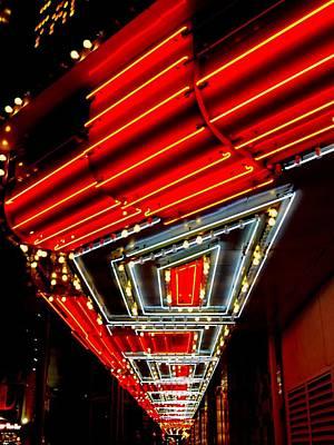Glitter Gulch Photograph - Third Street Neon by Randall Weidner