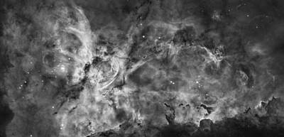 Hubble Space Telescope Views Photograph - This View Of The Carina Nebula by ESA and nASA