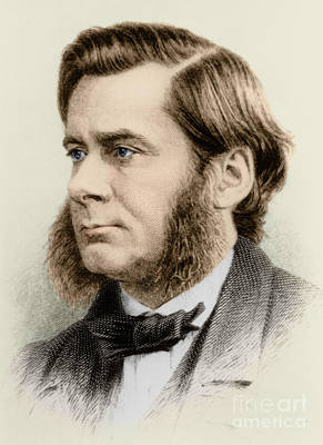 English Bulldog Drawing Photograph - Thomas Huxley, English Biologist by Science Source