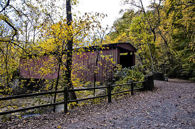 Thomas Mill Covered Bridge Over The Wissahickon Print by Bill Cannon