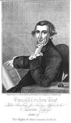 Rights Of Man Photograph - Thomas Paine (1737-1809) by Granger