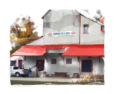 thompson supply and feed Ripley Ont. Print by Bob Salo