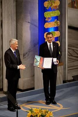 Thorbjorn Jagland Presents President Print by Everett
