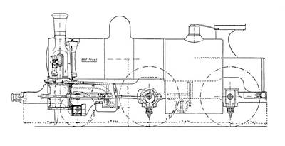 Technical Photograph - Three-cylinder Compound Steam Locomotive by Mark Sykes