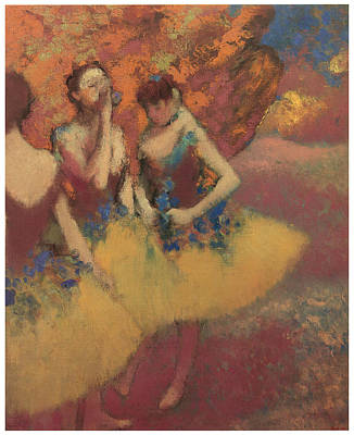 Ballet Painting - Three Dancers In Yellow Skirts by Edgar Degas