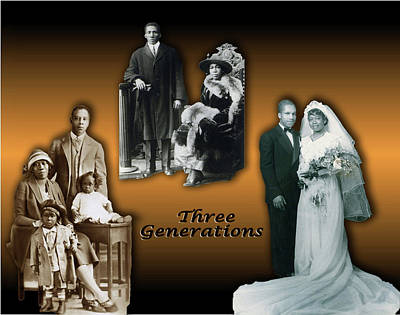 Three Sisters Digital Art - Three Generations by Terry Wallace