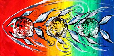 Three In A Row ... Three Original by J Vincent Scarpace
