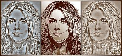 Mccombie Mixed Media - Three Interpretations Of Celine Dion by J McCombie