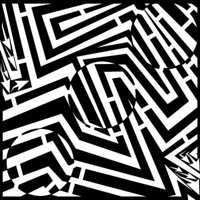 Frimer Drawing - Three Marbles Maze by Yonatan Frimer Maze Artist
