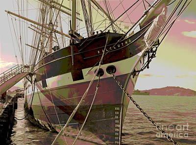 Historic Schooner Photograph - Three Masted Schooner Balclutha by Padre Art