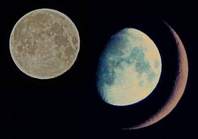 Three Moon Print by Marianna Mills