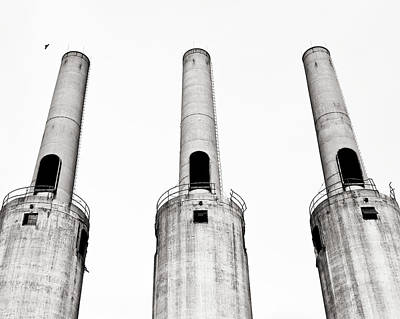 Concrete And Iron Digital Art - Three Towers Of The G.o.w. by John Magnoski