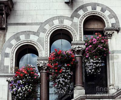 Architecture Photograph - Three Windows In Dublin by John Rizzuto