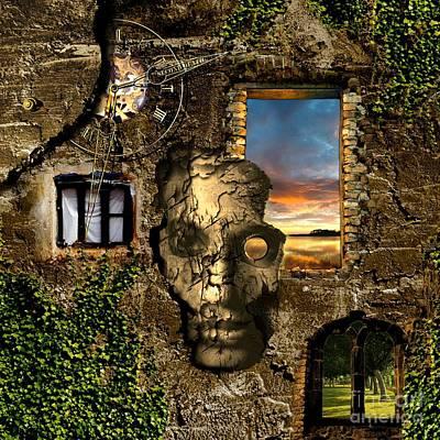 Bush Digital Art - Three Windows One Lies by Franziskus Pfleghart