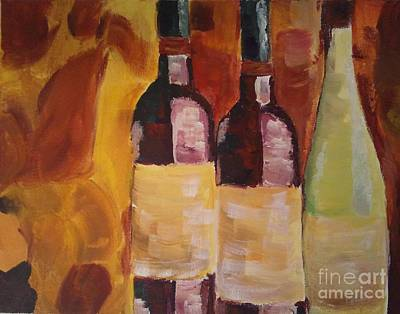 Painting - Three's A Party by J Von Ryan