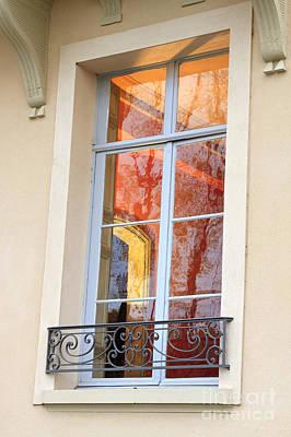 Through A Window In Ile St Louis Paris Print by Louise Heusinkveld