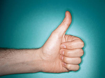 Thumbs Up Sign Print by Lawrence Lawry