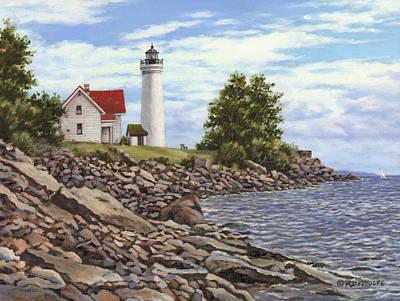 Tibbetts Point Lighthouse Original by Richard De Wolfe