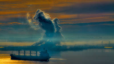 Water Photograph - Tide Flats Fog by David Patterson