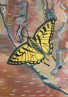 Egg Tempera Painting - Tiger Swallowtail by Amy Reisland-Speer