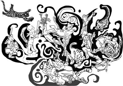 Tigers Vs Indians Original by Susie Morrison