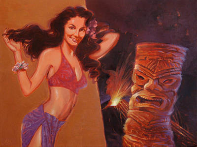 Tiki Tarts- You Better Love-a Me Now Or Love-a Me Not Print by Shawn Shea