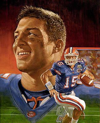Tim At Florida Original by Ron Adair