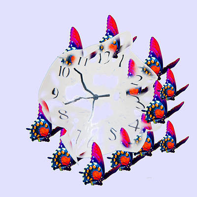 Time Bubble Print by Betsy C Knapp