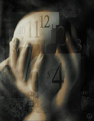 Numbers Digital Art - Time Confusion by Gun Legler